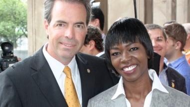Scherie Murray with Roy T. Richter, President Captains Endowment Association (CEA)