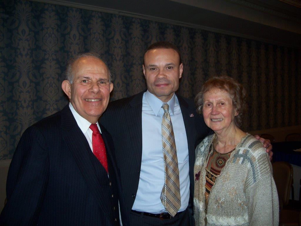 Dan Bongino with Naomi and Phil Sica