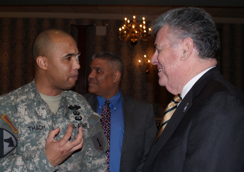 Cpt. James Van Thach with U.S. Rep. Peter King