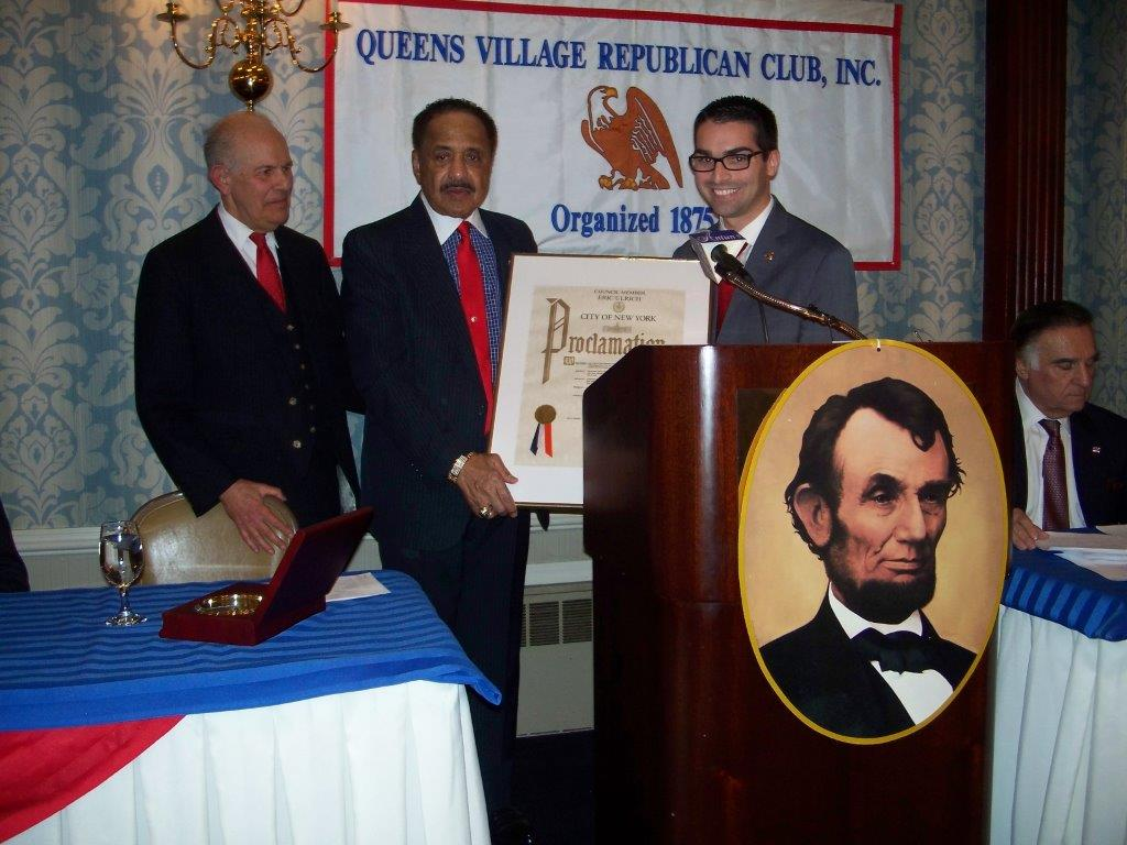 Lt. Col. John Peterkin (Ret.) U.S. Army receives NY City Council Proclamation from Councilman Eric Ulrich