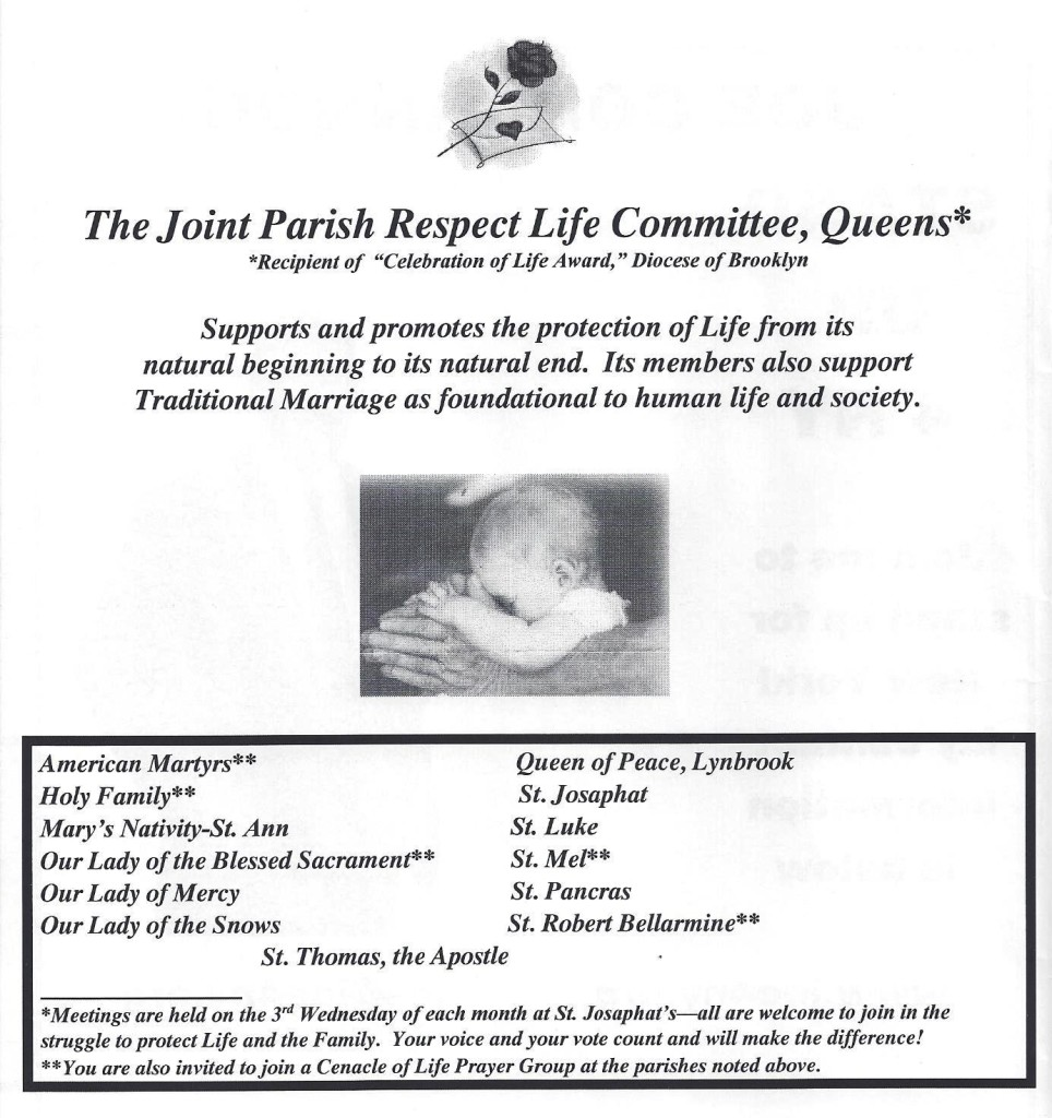 Joint Parish Respect Life Committee