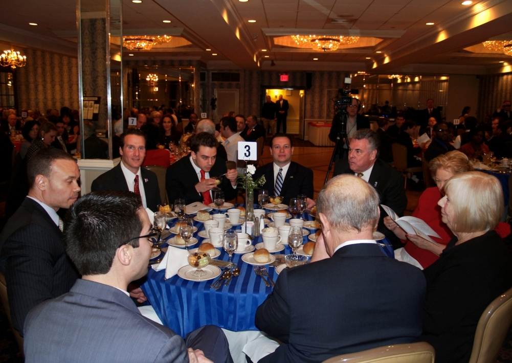 Rep. Peter King's table with the Turners and other electeds