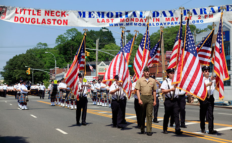 Image of the little neck douglaston memorial day parade.