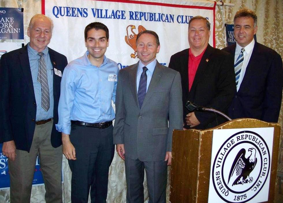Rob Astorino with Joe Concannon, Phil Orenstein, Councilman Eric Ulrich and Grant Lally