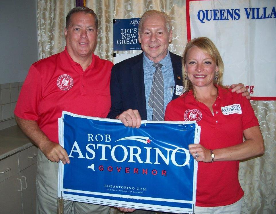 Janet Dennis-Maderik and Joe Concannon with Club President, Phil Orenstein