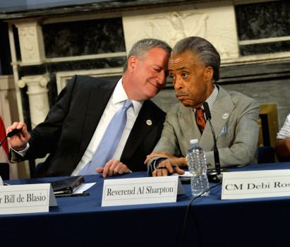 Police community relations roundtable at New York City Hall