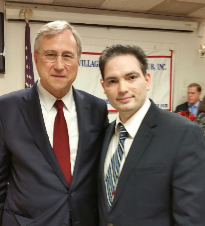 Dilip Chauhan and NYS Republican Party Chairman Ed Cox