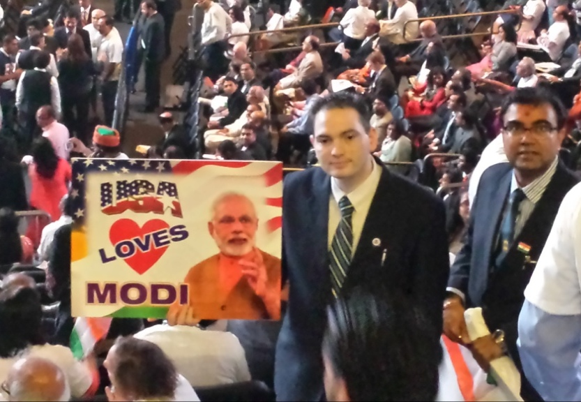 Dilip Chauhan at Community Reception for the Prime Minister of India at Madison Square Garden on Sunday, September 28, 2014