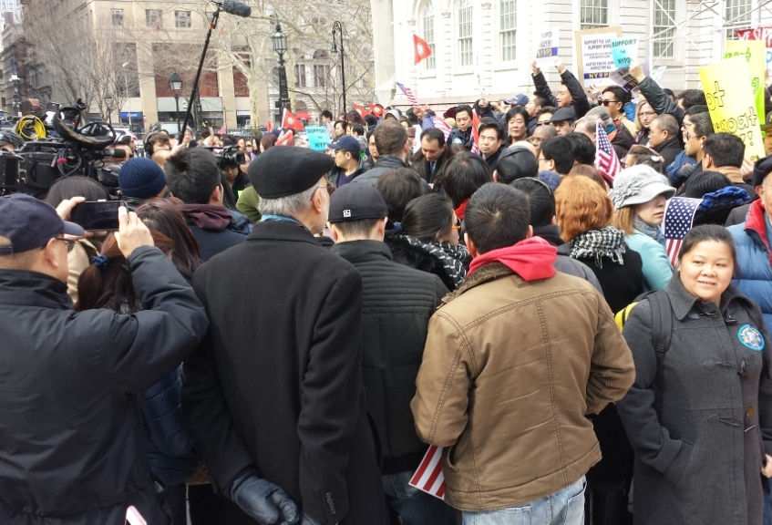 1000's attend rally to support and gratitude for our NYPD!