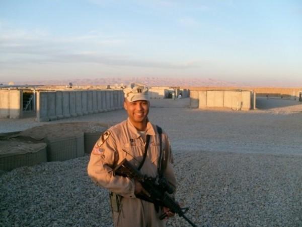 Capt. James Van Thach at Combat Outpost Shocker, Dec. 2007. (Courtesy Capt. James Van Thach)