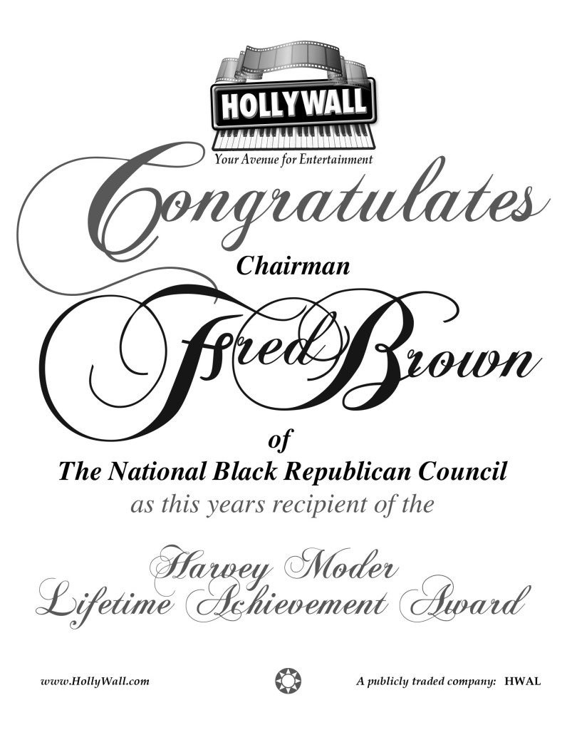AD- HOLLYWALL-Chairman Fred Brown