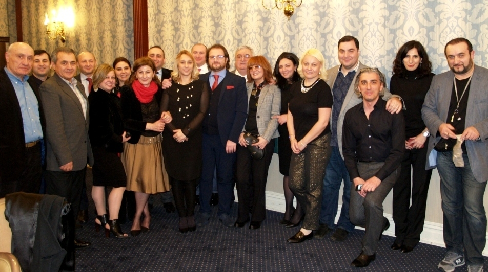 Nikoloz Chkheidze and Georgian guests celebrating his honors