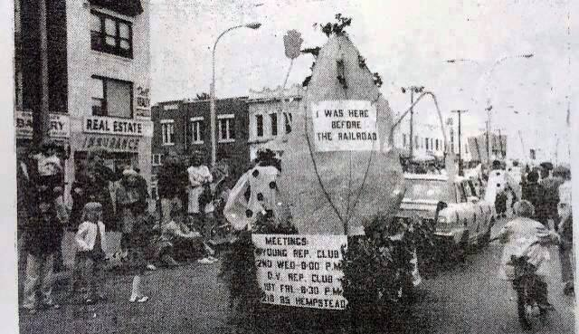 Queens Village Republican Club float in 1971 parade in Queens Village