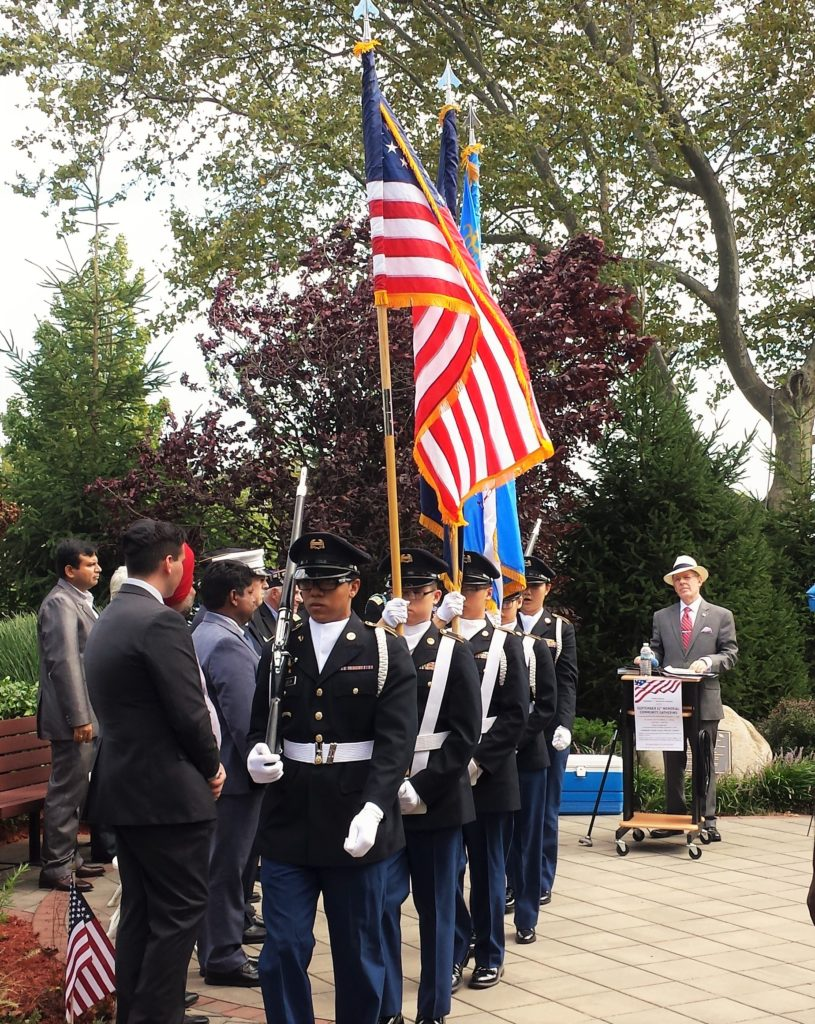 Presentation of Colors by the Francis Lewis High School ROTC Color Guard