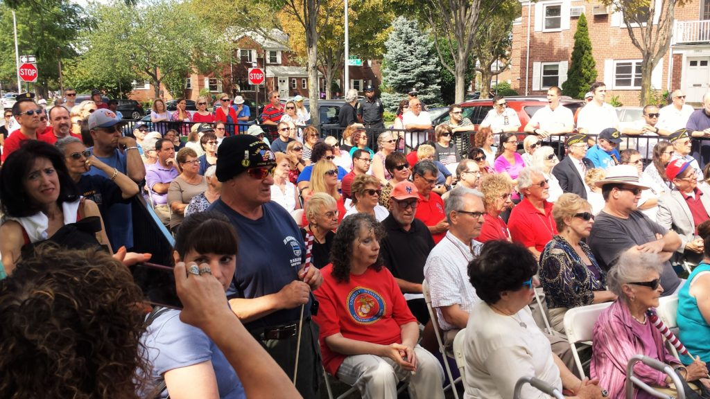 Large turnout for the 9-11 Memorial Ceremony