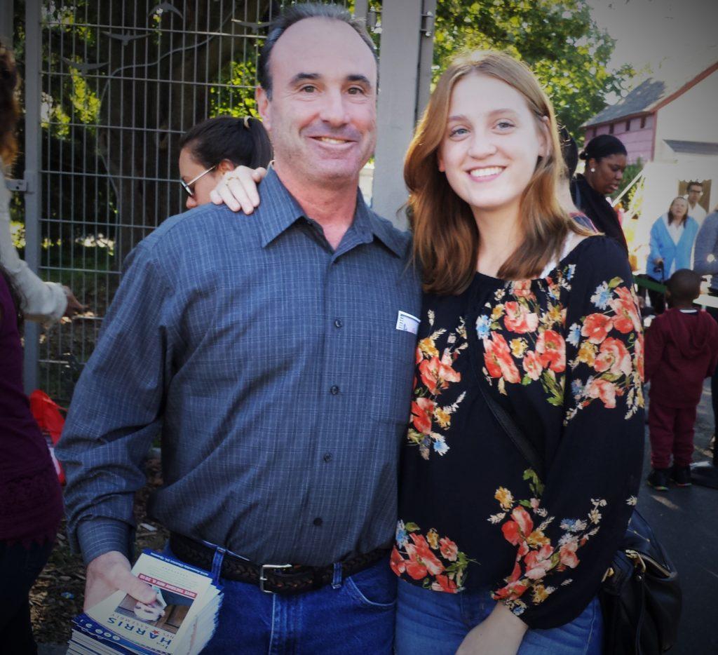 Ira Harris with daughter Rachel