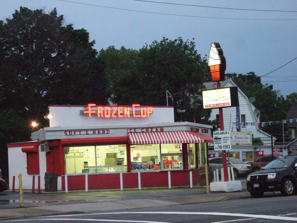 Frozen Cup, the Ice Cream stand that was an institution at this location prior to the building of the Bellerose Inn hotel.