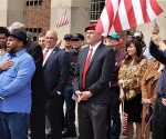 Republican Patriots with Curtis Sliwa at Boro Hall, announce their 4-0 Appellate Court Victory