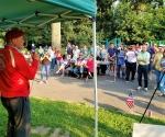 Curtis Sliwa fires up Republican Patriots at Summer BBQ event at Alley Pond Park.