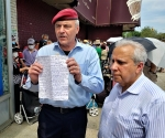 Curtis Sliwa in Kew Gardens Hills: Sharing, Caring, and Uniting the People!